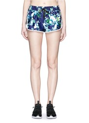 We Are Handsome 'The Dalliance' Print Drawstring Running Shorts Multi Colour