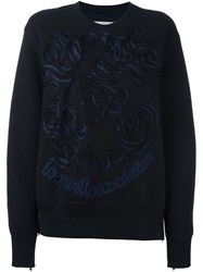 Sacai Embroidered Sweatshirt Black