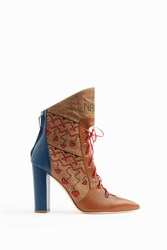 Malone Souliers Women S Larisa Lace Front Boots Boutique1 Sand Cocoa Deep Sea