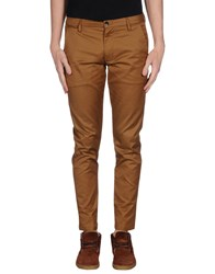 One Seven Two Trousers Casual Trousers Men Brown
