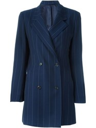 Aalto Double Breasted Pinstripe Jacket Blue