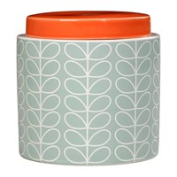 Orla Kiely Linear Stem Storage Jar Duck Egg Blue