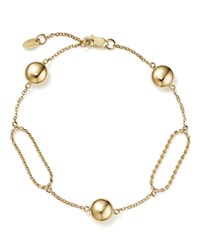 Bloomingdale's Oval Twist Link Bracelet With Beads In 14K Yellow Gold