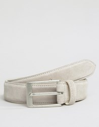 Barney's Barneys Suede Belt Cream