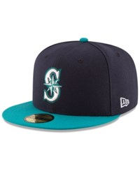 New Era Seattle Mariners Authentic Collection 59Fifty Cap Navy Teal
