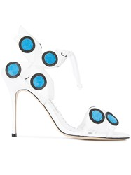 Manolo Blahnik Mbole Sandals White