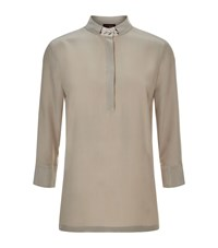 Peserico Silk Tunic Top Female Neutral