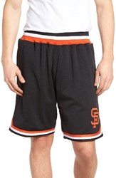 Mitchell And Ness Men's Playoff Win San Francisco Giants Mesh Warm Up Shorts