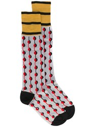 Marni Dot Printed Socks Grey