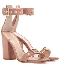 Gianvito Rossi Hayes Suede Sandals Pink