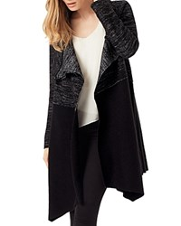 Phase Eight Color Block Bellona Duster Cardigan Black