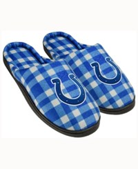 Forever Collectibles Indianapolis Colts Flannel Slide Slippers Blue
