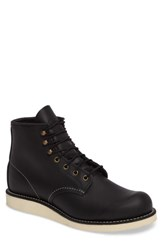 Red Wing Shoes Men's Rover Plain Toe Boot Black Harness Leather