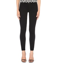 Warehouse Powerhold Super Skinny Mid Rise Jeans Black