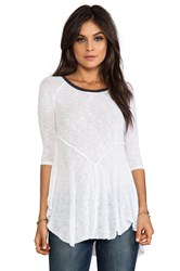 Free People Weekends Layering Tee White