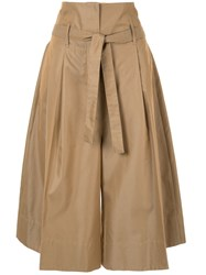 Nehera Cropped Tailored Trousers Brown