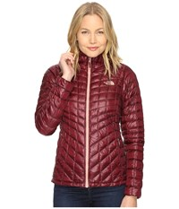 The North Face Thermoball Hoodie Deep Garnet Red Women's Coat Brown