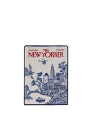 Olympia Le Tan The New Yorker Cotton Blend Book Clutch Bag White Multi