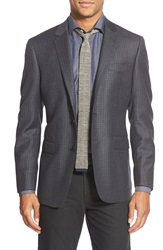 Todd Snyder Trim Fit Check Wool Sport Coat Dark Blue