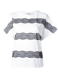 Red Valentino Lace Up Detailing T Shirt White