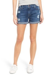 7 For All Mankindr Women's Mankind Relaxed Cuffed Denim Shorts