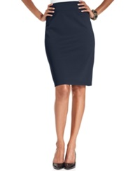 Style And Co. Pull On Ponte Knit Pencil Skirt Industrial Blue
