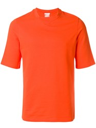 Reebok X Cottweiler Rear Print Fitted T Shirt Yellow And Orange
