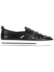 Red Valentino Star Studded Slip On Sneakers Black