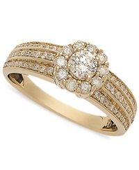 Macy's Diamond Circle Engagement Ring In 14K Gold 5 8 Ct. T.W.
