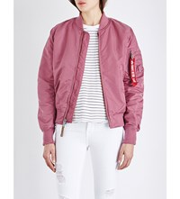 Alpha Ma 1 Shell Bomber Jacket Dusty Pink
