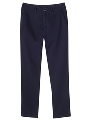Jigsaw Heavy Twill Slim Fit Trousers Navy