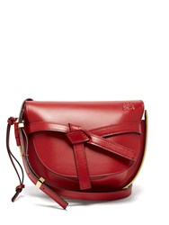 Loewe Gate Small Grained Leather Cross Body Bag Red