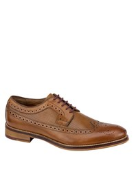 Johnston And Murphy Conard Leather Brogue Wingtip Oxfords Tan