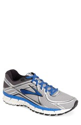 Men's Brooks 'Adrenaline Gts 16' Running Shoe Silver Electric Blue Black