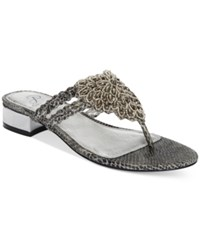 Adrianna Papell Delta Evening Sandals Women's Shoes Pewter