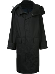 Astraet Zip Up Trench Coat Cotton Black
