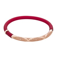 Sarah Ho Sho Pop Bracelet Large Mirage Red Red Rose Gold