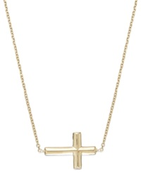 Macy's 14K Gold Necklace Sideways Cross Necklace