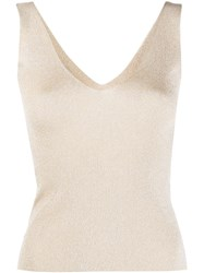 Roberto Collina Metallized Knitted Tank Top 60