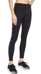 Terez Tall Band Leggings Black Plaid