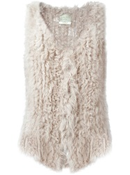 Forte Forte V Neck Gilet Nude And Neutrals