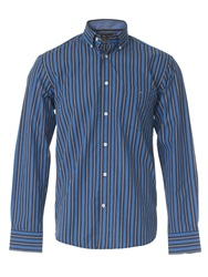 Eden Park Three Tone Striped Shirt Blue