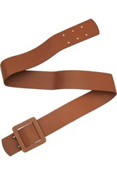 Marni Wide Textured Leather Belt Brown