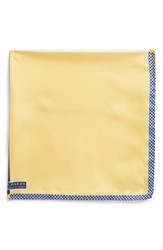 Men's J.Z. Richards Silk Pocket Square Yellow