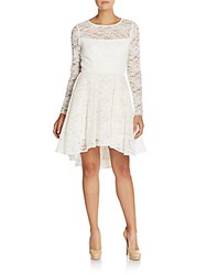 Abs By Allen Schwartz Hi Lo Lace Dress Ivory