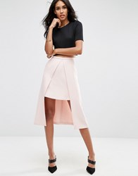 Asos Double Layer Prom Skirt Blush Pink
