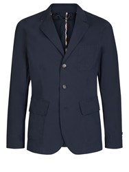 Aquascutum London Barnes 3 Button Blazer Navy