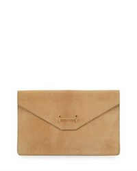 M2malleti Umany Europe S.L. Suede Envelope Clutch Bag Black