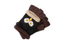 San Diego Hat Company Kng3134 Knit Owl Fingerless Gloves Brown Extreme Cold Weather Gloves
