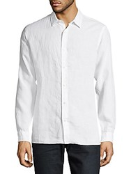 Vince Casual Melrose Long Sleeve Cotton Shirt White
